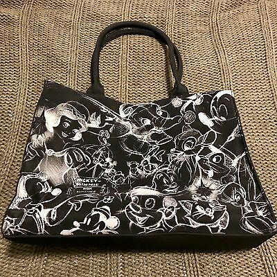 Disney tote bag black and white purse beach  handbag Dumbo Snow White Mickey