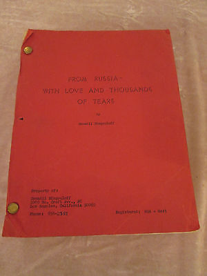 From Russia With Love & Thousands of Tears Biegouloff 1st Draft Script Signed DE