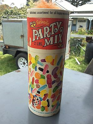Vintage Harlequin Candy Co Prahran Melb Party Mix Confectionary Box