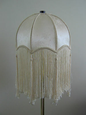 Stunning Vintage Style Cream Color Embossed Floral Pattern Ceiling Lamp Shade