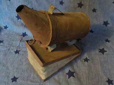 Antique Bee Smoker w Bellows Beehive Tool 1900`s vintage rustic Folk barn find