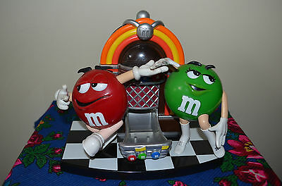 M & M Jukebox Candy Dispenser Red and Green.