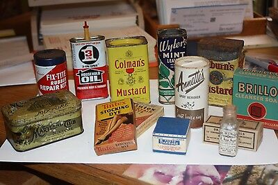 Medicinals, Spices, Collectible Tins,dr. King's Pills Rare, Fix-It Items,vintage