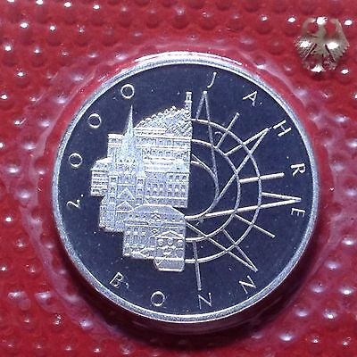 1989 D Germany Silver 10 Mark Proof Coin Sealed