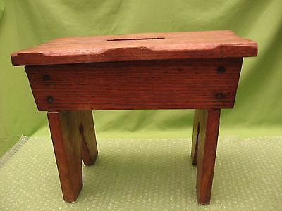 """Wooden Stool - Screws Instead Of Nails - Sturdy - 10 3/4"""" Tall - Excellent Cond."""