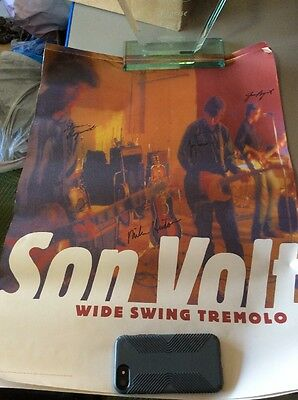 Son Volt Signed / Autographed Wide Swing Tremolo Poster