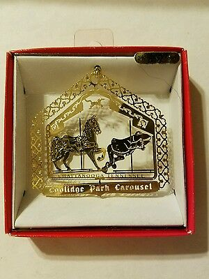 Coolidge Park Carousel Chattanooga  Tennesee  Brass Christmas Ornament