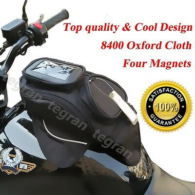 Universal Magnetic Motorcycle Scooter Motorbike Oil Fuel Tank Bag for Phone NEW