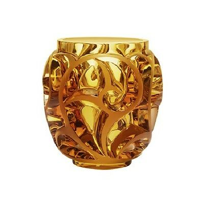 Magnificent Lalique Tourbillons Vase - Gold Luster ~ NEW