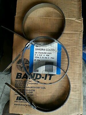 """Band-it Clamps ss201 127mmx19mmx.76mm -5""""x3/4""""x.03"""""""