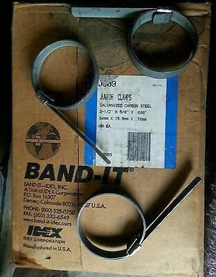 """25 Band-it Clamps Galv. Carbon Steel 64mmx15.9mmx.76 - 21/2""""x5/8""""x.03"""""""