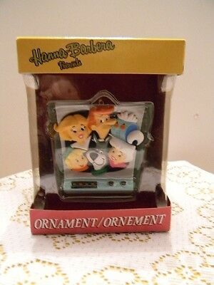 The Jetsons on TV Screen Christmas Ornament Rare NIB Hanna Barbera