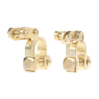 1 Pair  Auto Car Replacement Battery Terminal Clamp Clips Brass Connector New