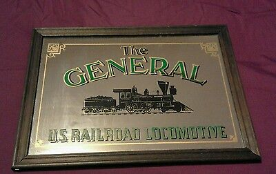 The general. US railroad locomotive mirror frame.