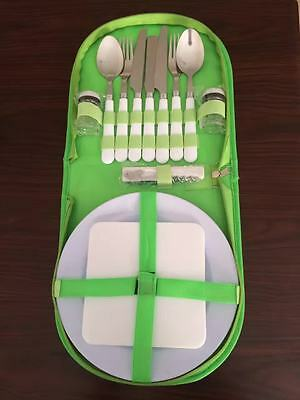 New Picnic 2 Person Green Camping Picnic Set Outback Australia