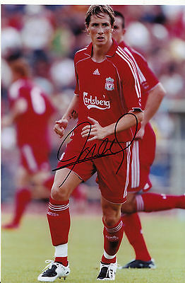 Fernando Torres Signed Liverpool Football Club Photograph with COA