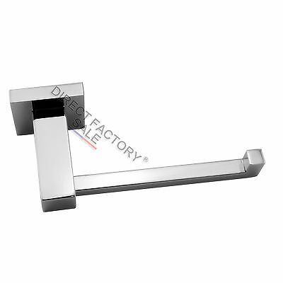 Toilet Paper Roll Holder Wall Hook Solid Stainless Steel Chrome Silver Bright