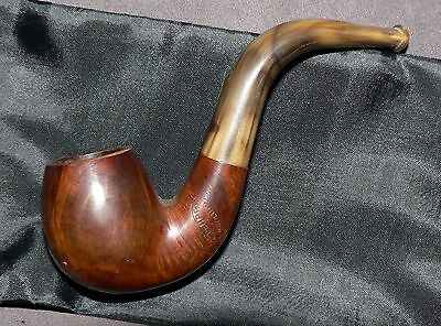A Perrin' Moulins' Vintage French Tobacco Pipe & Cover. Used. Solid Condition.