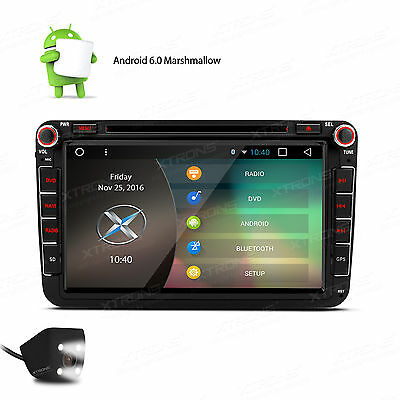 "Quad Cord Android 4.4 Autoradio 8""GPS DVD Player Kamera for VW Jetta Passat Polo"