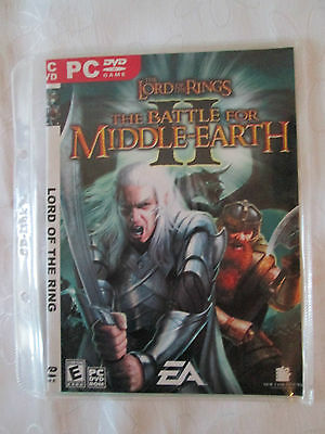 Pc Dvd  Game - Lord Of The Rings Battle For Middle Earth As New Cond
