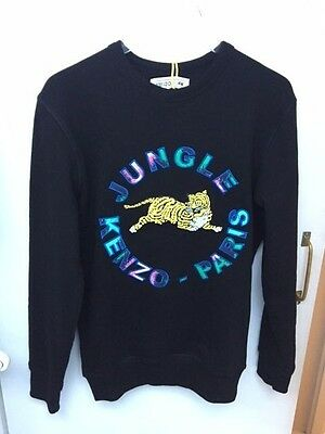 Kenzo x H&M mens black sweatshirt with appliques in size XS