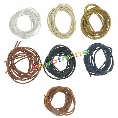 Round Waxed Shoelaces Oxford Dress Canvas Sneaker Shoe Laces Unisex Strings