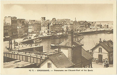 The Outer Harbour,Docks & Swing Bridge at Cherbourg (Alex Bequemin-No.43Y)