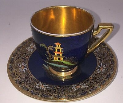 "Carlton Ware "" Mikado"" pattern cup and saucer"