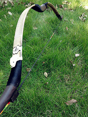 2016Snakeskin longbow Chinese handmade Traditional recurve Bow 20lb-60lb for you
