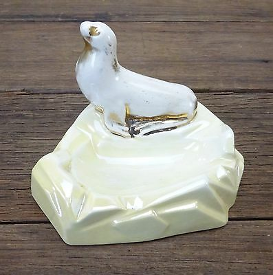 Vintage Wembley Ware Australian Pottery Luster Seal Ashtray