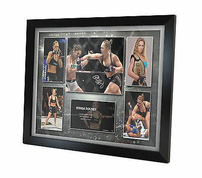 Ronda Rousey Signed Photo Poster FRAMED Memorabilia Limited Edition of 250
