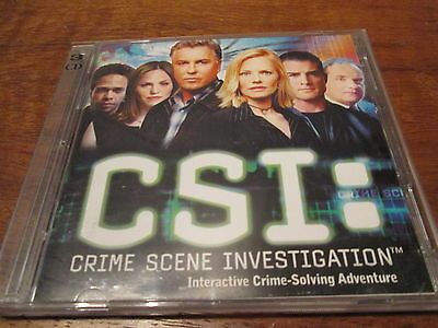 3 Disc Pc Cd-Rom Software Game - Csi: Crime Scene Investigation . As New Cond