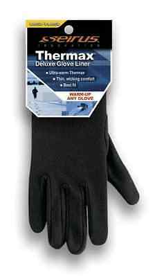 NEW Seirus Black Deluxe Thermax Thin Warm Flexible Winter Glove Liner L/XL