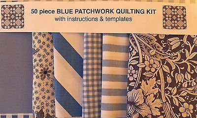 New! Laura Ashley Fabric Beginners Patchwork Quilting Kit With Instructions