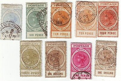 Old Colony South Australia   Long Toms {Small Postage } Used == 9 ==