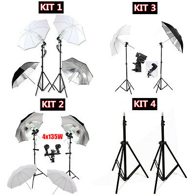 Photography Studio 135W Bulbs Umbrella Continuous Studio Lighting Stand Kit AU