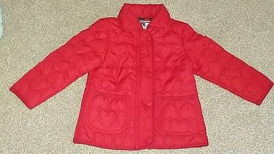 Girls red jacket. BNWOT. Age 4