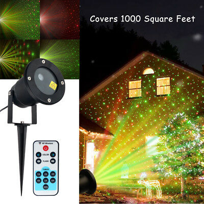 Waterproof Outdoor Garden Christmas Party Moving Laser Projector Landscape Light
