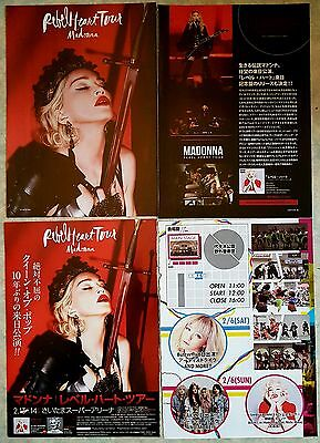 MADONNA rebel heart tour TOKYO clippings BERLIN MILAN newspapers reports 2015