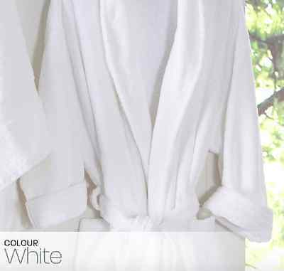 Luxury Bath Robe 100% Cotton Terry Towelling - Commerical Grade 1 Size