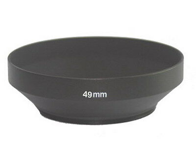 NEW wide angle 49mm metal lens hood cover for 49mm filter/lens