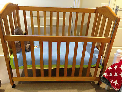 Cotech Wooden Cot -  Excellent Condition - Mattress Included