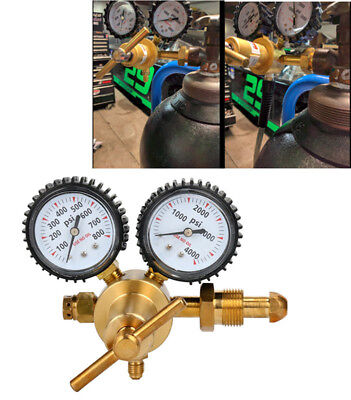 Nitrogen Regulator with 0-600 PSI Delivery Pressure, CGA580 Inlet Connection US