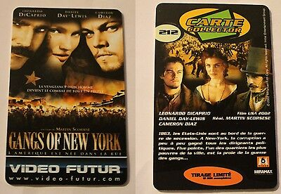 Carte Collector Video Futur - 212 - Gangs Of New York Edition Limitee 15.000 Ex