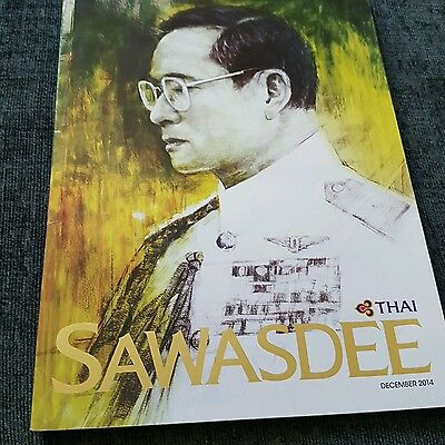 thai airways inflight magazine. December 2014. King of Thailand.
