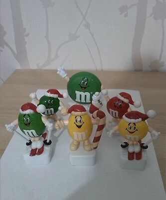 M&m M&ms 6 Christmas Sweet Toppers Job Lot
