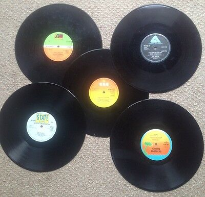 """Job Lot 5 Assorted 12"""" Singles From Late '70s Dance/Disco"""