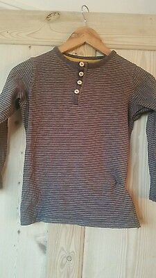 boys brown  joules long sleeve t-shirt age 7