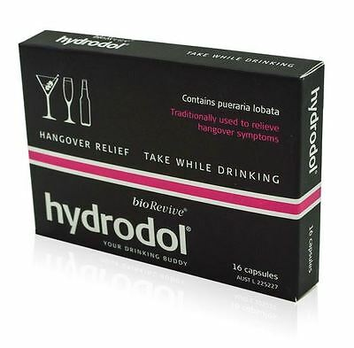 Hydrodol 16 Capsules Christmas & New Year Hangover Relief - Free Postage!