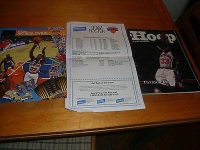 New York Knicks programme and team roster from 1999.